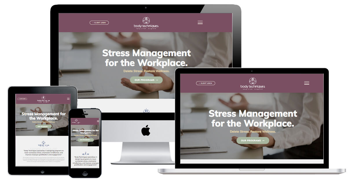 Body Techniques Elementor Web Redesign